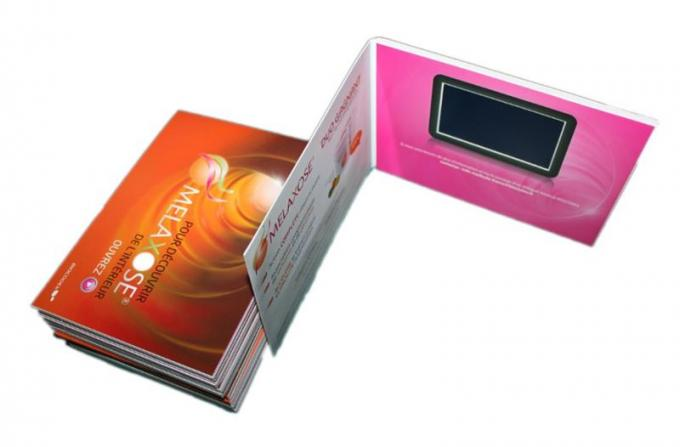 Advertising lcd video mailer , lcd video business cards for fair display