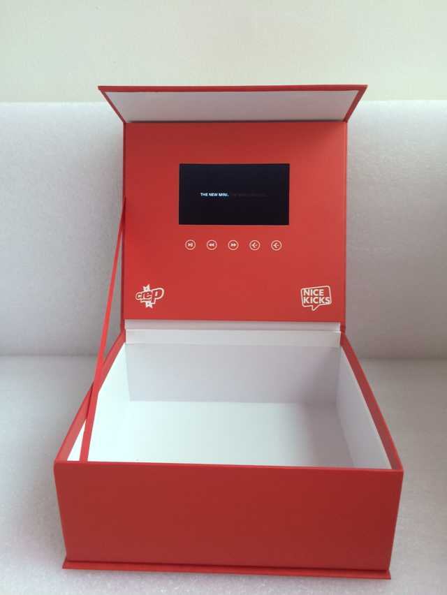 Luxury Custom LCD Screen Video Mailer With HD LED 2GB Memory A5 A4 Brochure Booklet