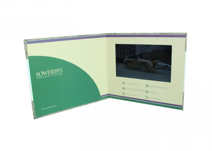 Customized Printing Lcd Video Card , Promotional Lcd Invitation Card For Advertising