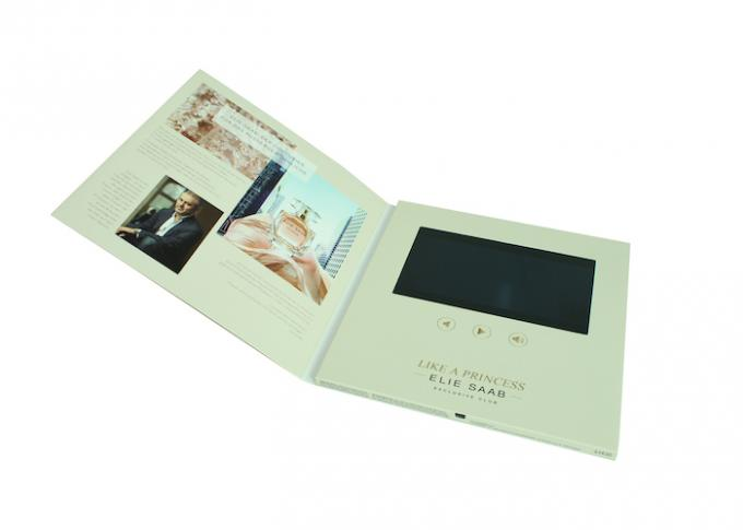 Full Color Printing Video Brochure Card 90 * 50 Mm Insert Digital Module With Screen
