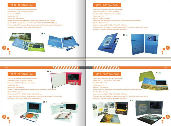 7 Inch HD 1024*600 IPS USB LCD Video Booklet Flyer CE ROHS SGS IPS Approved Full Color Video Brochure Cost Price China