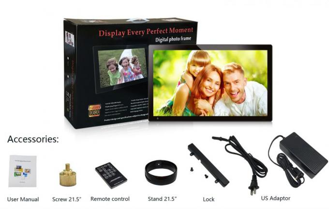 1280*800 LCD Video Brochure Wall Mounted Android Tablet 10'' IPS Remote / Buttons Control