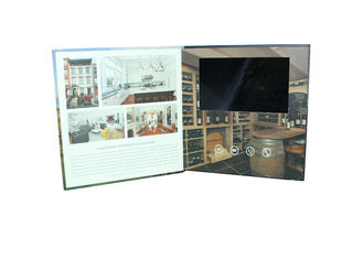 China luxury handmade tft lcd Video Postcard for birthday , advertising digital video brochure supplier