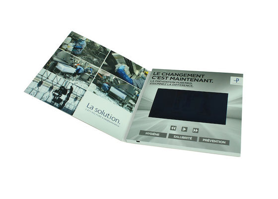 "High Resolution LCD Video Brochure , 2.4"" / 4.3"" / 5"" / 7"" Video Business Cards"