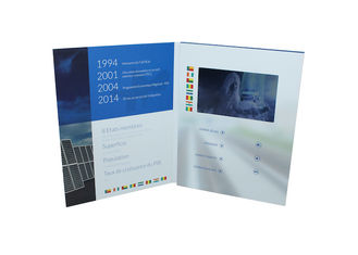 China Full Color Printing Video Brochure Card 90 * 50 Mm Insert Digital Module With Screen supplier