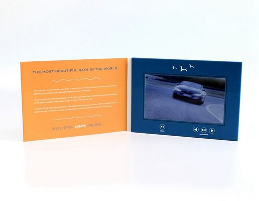 VIF Free Sample 7 inch Video Greeting Card , lcd video business cards for promotional activities
