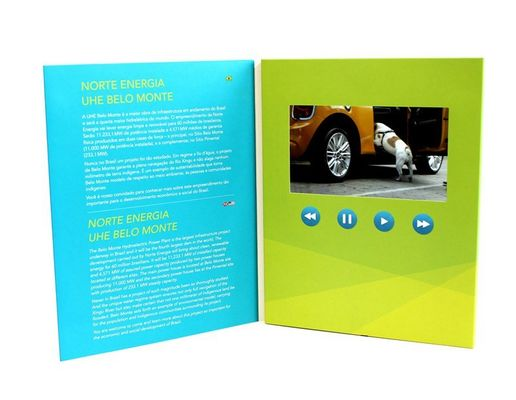 "China Rechargeable Battery Full colors digital video brochure for gift , 1.8 - 7"" supplier"