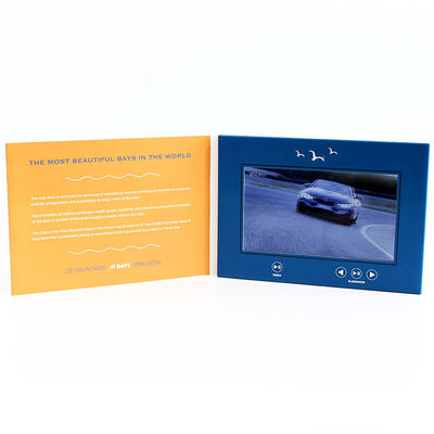 China 6 Movie - Control LCD Video Card , Gold Stamping Video Greeting Card For Business  supplier