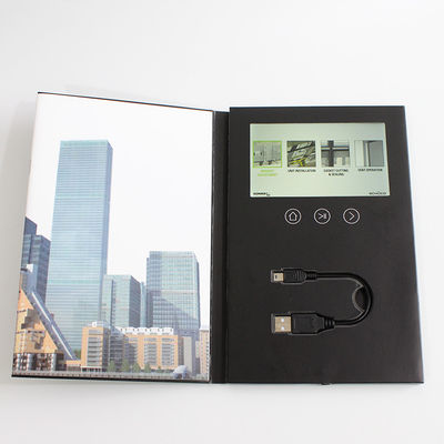 China 7 Inches LCD Video Brochure Card 1 /2 /4 / 8GB Memory For Advertising / Promotions supplier