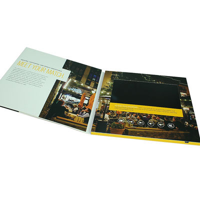 China Business Booklet LCD Video Brochure 4 Color CMYK Printing 4GB Memory supplier