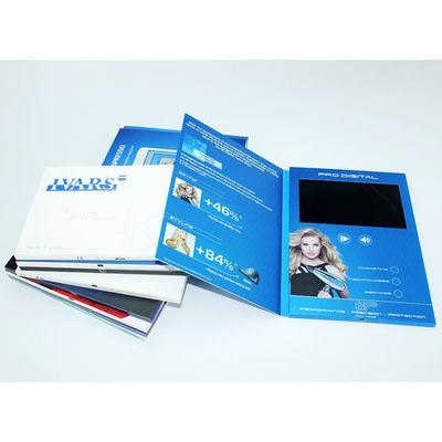 China VIF 2018 Promotion Gift Video Greeting Book Card Customimed LCD Video Brochure 7 inch 512M For Business supplier