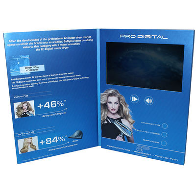 "China Wifi Video In Folder 7 "" Touch HD Screen Digital With 350 Gsm Soft Cover supplier"