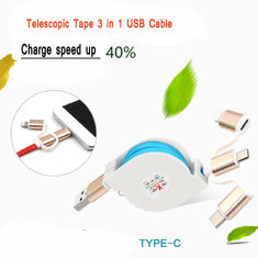 China 2.4A Quick Multi Charger Micro USB Cable 3 In 1 For IPhone Android Watch supplier