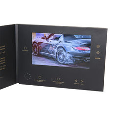 China VIF Free Sample Limited promotional  lcd 7 inch HD Screen video brochure with  5 folder buttons and  Magnetic switch supplier