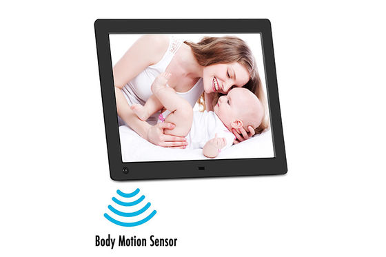 Human Sensor Wireless Digital Picture Frame 9.7'' Hd Lcd Screen Remote / Buttons Control