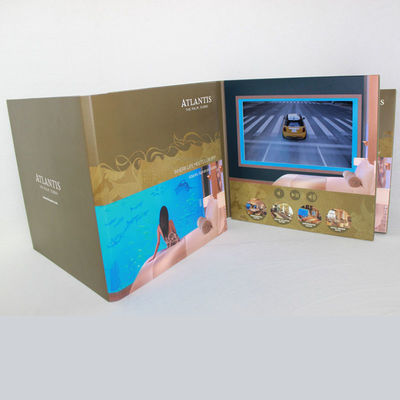 China 3D Audio LCD Touch Screen Video In Print Brochure HD Greeting Card For Business supplier
