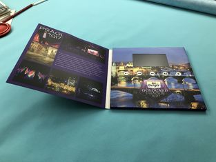 TFT Digital Video Brochure Printed Video Greeting Folder Cards 2.4/2.8/4.3 Inch 256mb