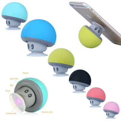 China Cartoon Mushroom Wireless Bluetooth Speaker Waterproof Sucker Mini Portable supplier