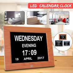 800x600 Digital Calendar Clock 5V 1A Greeting Card Folder