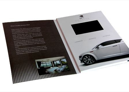 China Custom car Business Promotional Gift Video Brochure Card with Wifi supplier