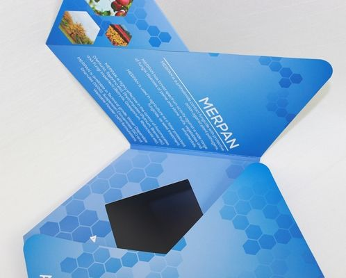 China 7 inch TFT Flip Book Video for Advertising , video booklet with 2G memory supplier