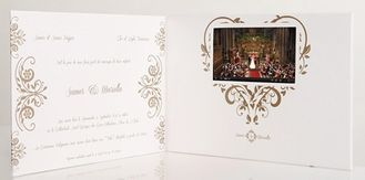 China multimedia effect electronic lcd video card for weddings / opening veremonies supplier