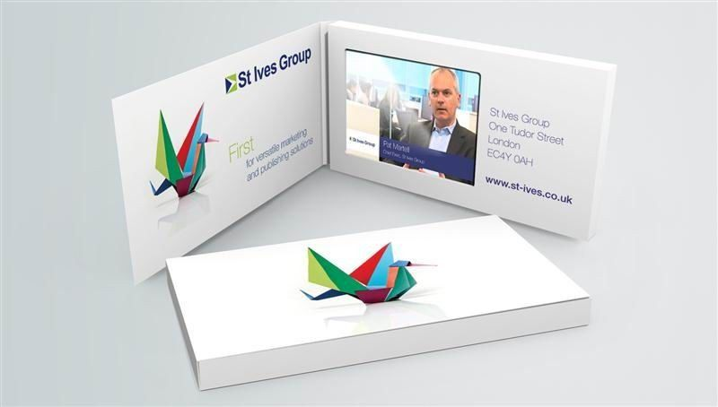 Movement Tft Screen Video Business Cards With Usb Port On Off