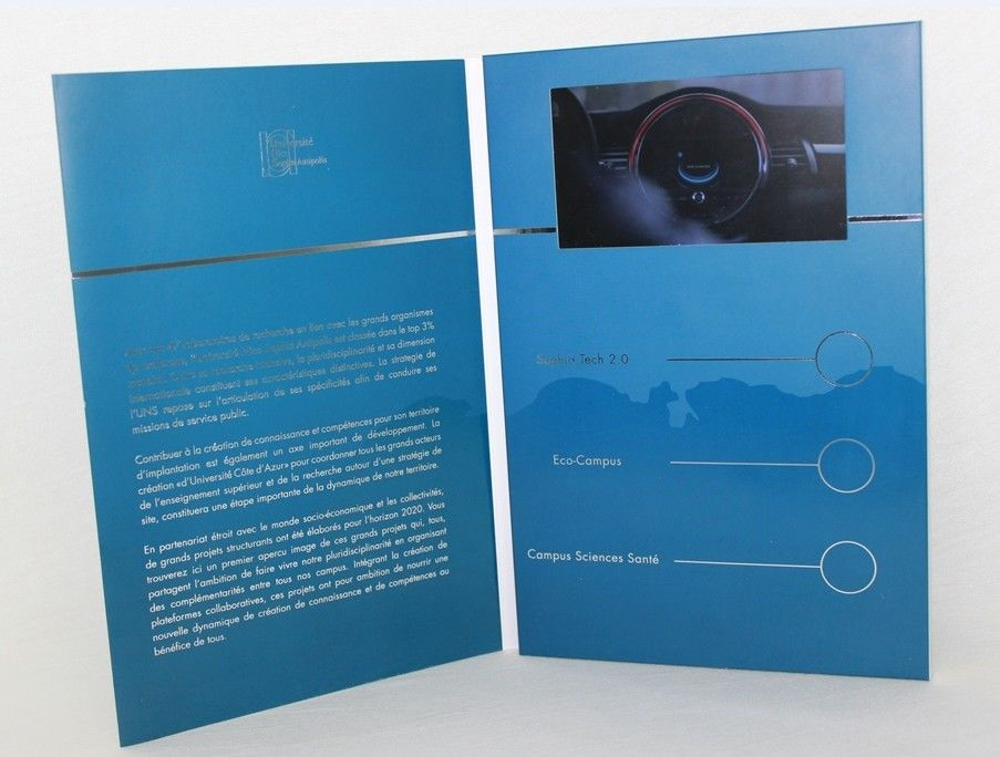 5 silver printing video brochure card fair display lcd video 5 silver printing video brochure card fair display lcd video business cards reheart Image collections