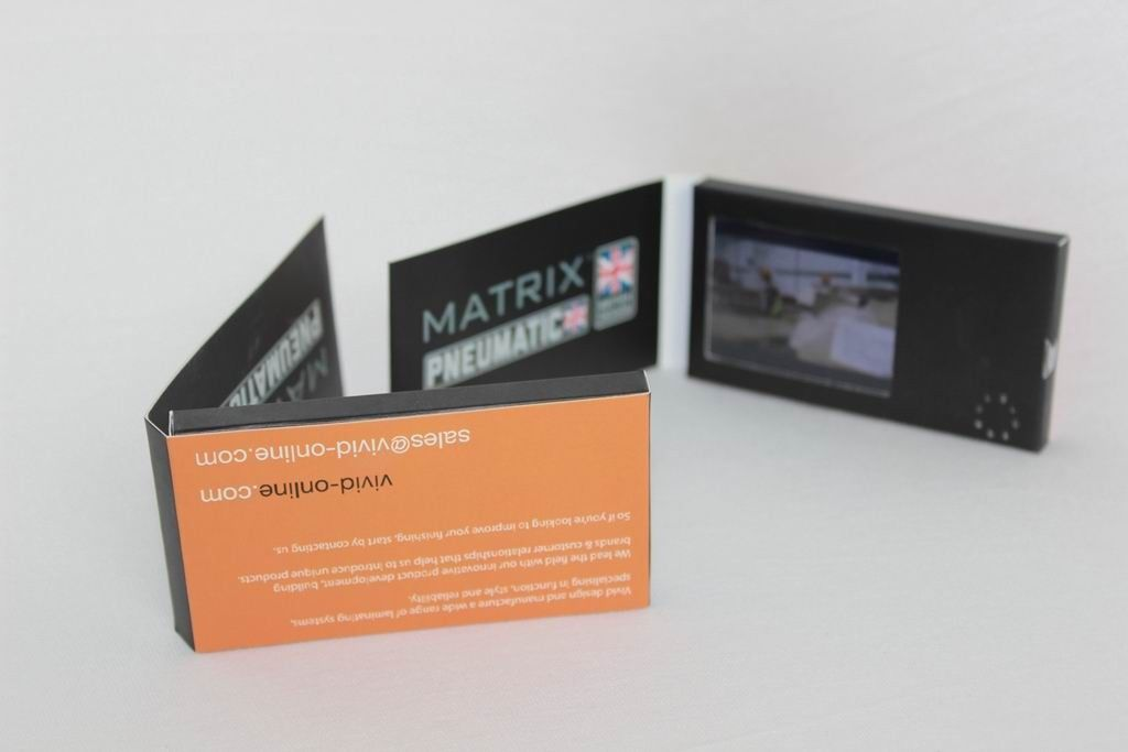 Customized lcd video business cards with hard cover a4 a5 size colourmoves