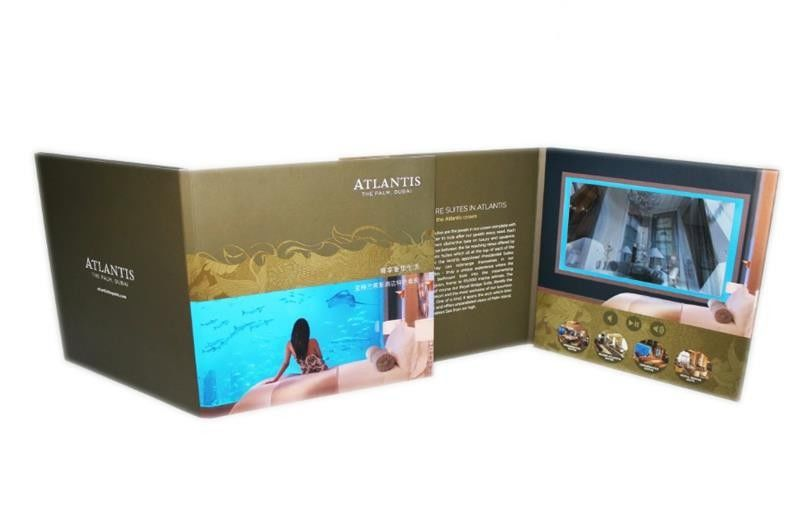 A5 customized Rechargeable digital video brochure for wedding ...