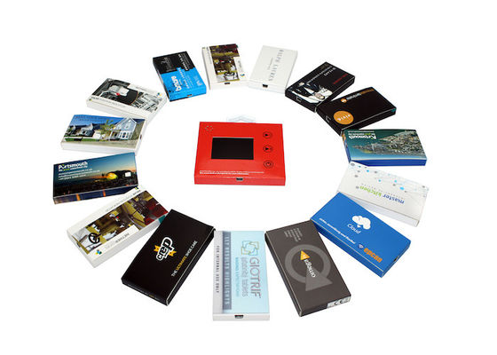 Automatic lcd video brochure card for holiday greetings , 1G / 2G lcd video mailer