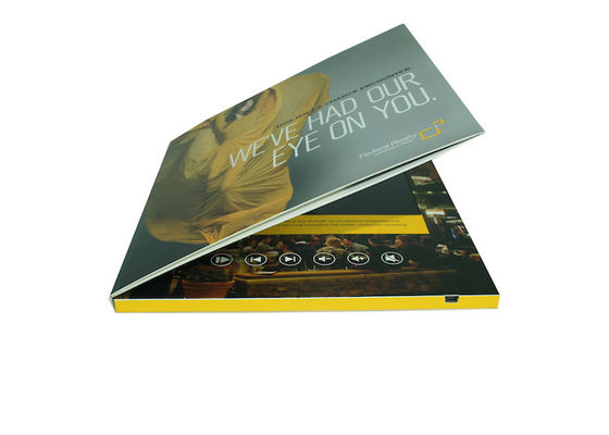 Rechargeable lcd video greeting card , 7 inch / 10 inch lcd brochures