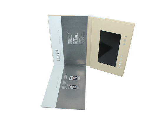 A4 , A5 CMYK Printing Video Booklet , Rechargeable Lcd Video Mailer For Commercial
