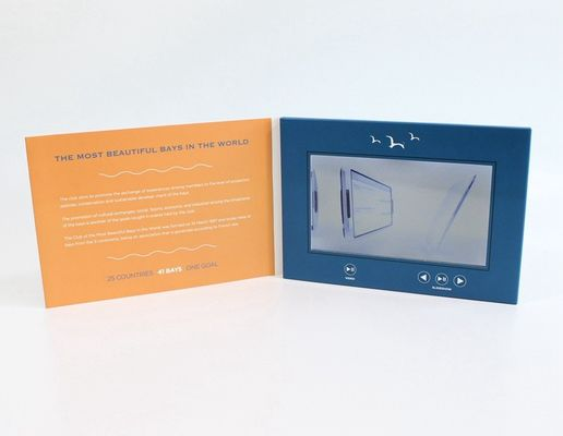 China Fastival Gift LCD Video Brochure With 2GB Memory , 10.1 Inch Lcd Video Greeting Card factory