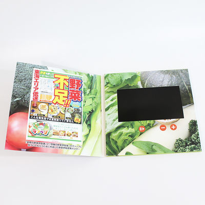 China Custom Digital Lcd Video Business Cards IPS Full Angle Screen Video In Folder factory