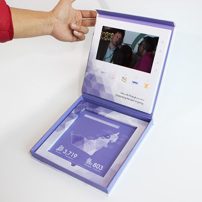 business advertising electronic 4.3inch video booklet with USB cable , video brochure card