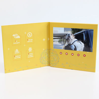 Free Sample Limited Video In Folder Factory Handmade LCD Greeting Book 7 inch Video Brochure  For Promo