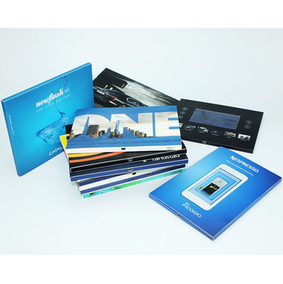 Free Sample VIF Handmade USB downlaoding CMYK printing LCD  HD IPS 7 Inch Video Brochure Card for advertising