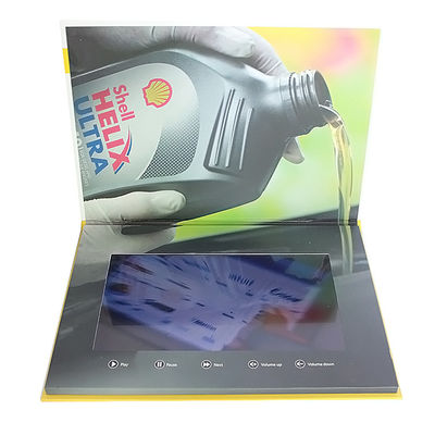 Video IN Folder 10.1 inch 4GB memory video brochure card with touch screen  USB cable free provided