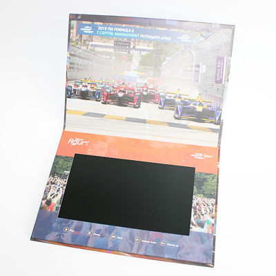 Hard Cover Video Brochure 10 Inch TFT High Resolution One Button Control