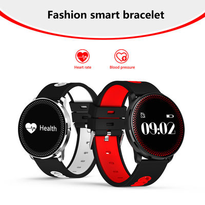Ip68 Smart Bluetooth Fitness Bracelet Clever Clock High Resolution Round Touch LCD