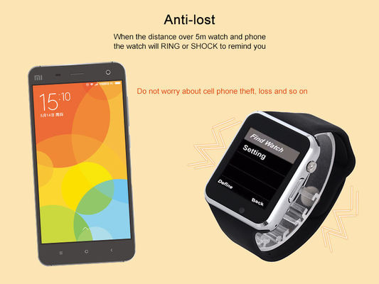 Relogio Android SIM Bluetooth Smart Watch With Alloy Case Material