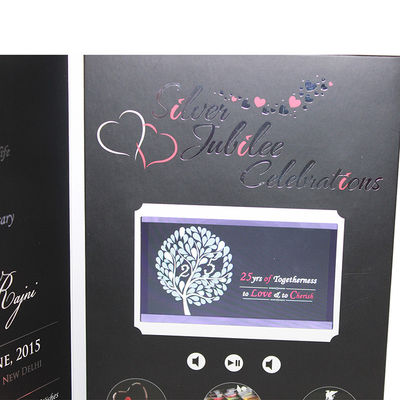 Video invitation card on sales quality video invitation card supplier vif free sample limited buttons function lcd video business cards full colors digital lcd video mailer reheart Images