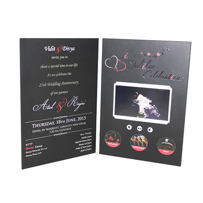 VIF Free Sample Limited Buttons function lcd video business cards Full colors digital lcd video mailer