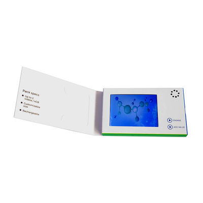 China USB Port LCD Video Business Cards 128MB-8GB Memory CMYK / Matte Lamination Printing factory