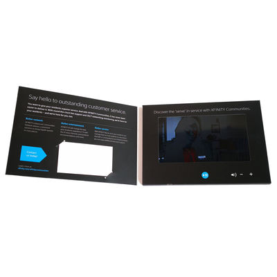 Events Video Invitation Card LCD Digital Brochure Plus Printing 128MB-8GB Memory