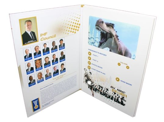 Electronic multimedia LCD Video Brochure , automatic video booklet for business