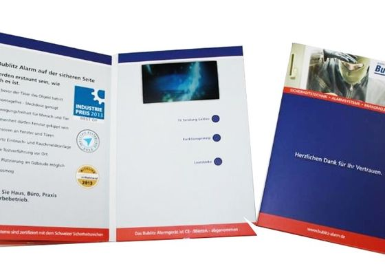 China Full colors LED Video Brochure Card , graduations / birthday parties video booklet factory