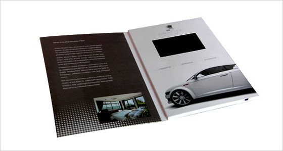 China Advertising video brochure card for greeting , lcd video mailer for fair display factory