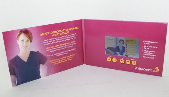Handmade elegant printing lcd video mailer for business promotional